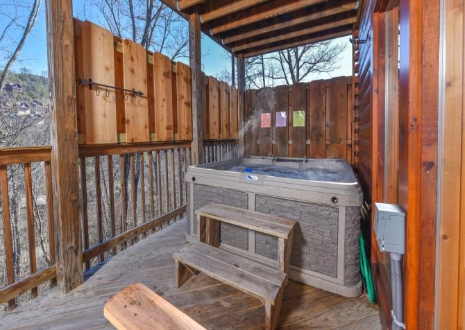 Pigeon Forge Cabin - Wild Bear Lodge – Hot Tub