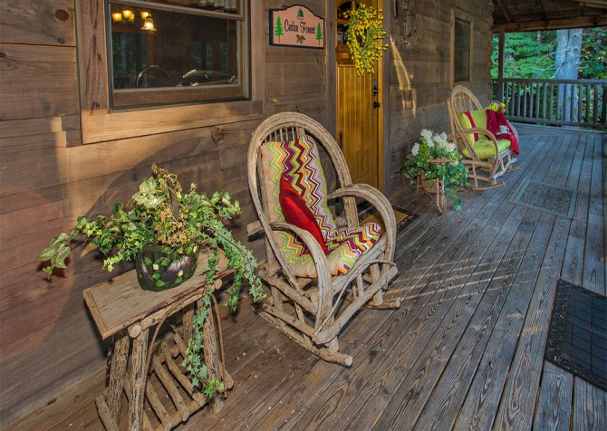Pigeon Forge - Cedar Forest - Deck Seating