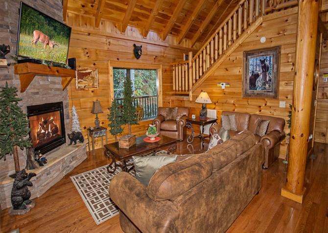 Pigeon Forge - Cedar Forest - Living Room