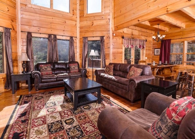 Pigeon Forge Cabin- It's Good N Da Woods Lodge – Living Room