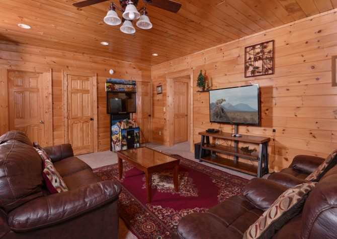 Pigeon Forge Cabin- Jennie's View - Media Room