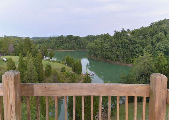 Pigeon Forge - Lakeside Mountain Memories - Deck View