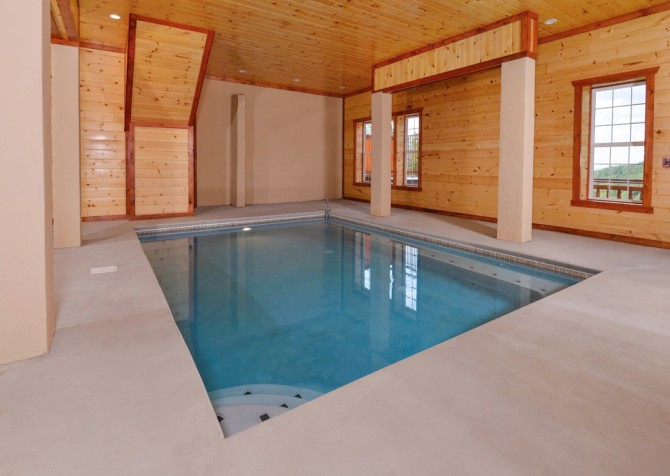 Pigeon Forge Cabin - Majestic Mountain Water - Private Indoor Pool