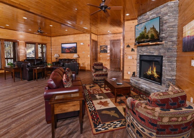 Pigeon Forge - Mountview Paradise - Living Area