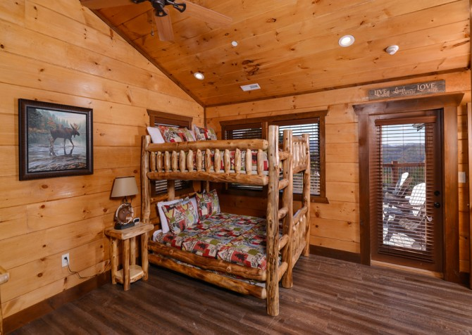 Pigeon Forge - Mountview Paradise - Bedroom Three Bunk