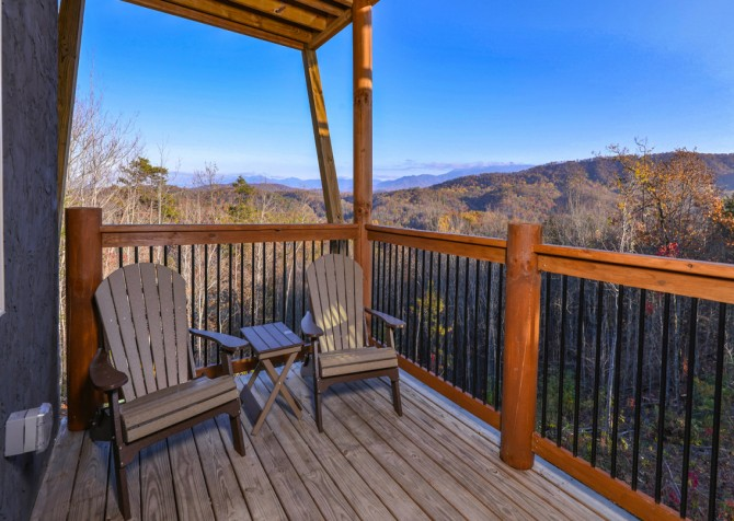 Pigeon Forge - Mountview Paradise - Exterior Deck Seats
