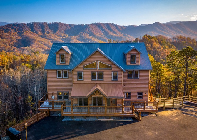 Pigeon Forge - Mountview Paradise - Exterior Sky View Front