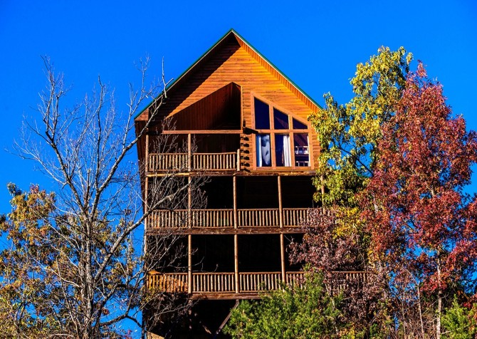 Pigeon Forge Cabin- Mt. LeConte Views Lodge – Exterior
