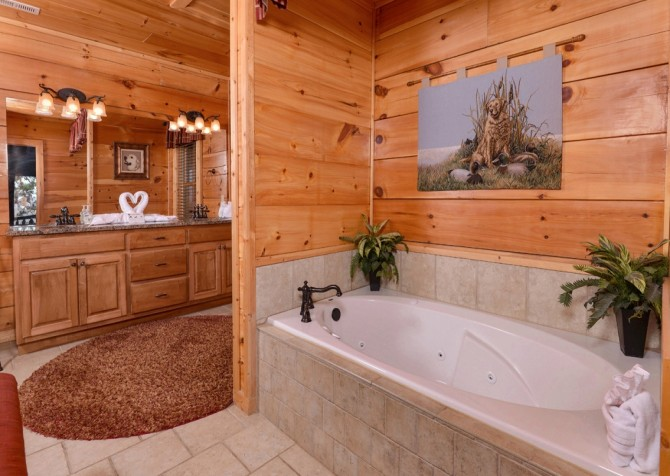 Pigeon Forge Cabin- Once Upon A View – Indoor Jetted Tub