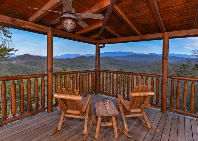Pigeon Forge Cabin- Once Upon A View – Deck View