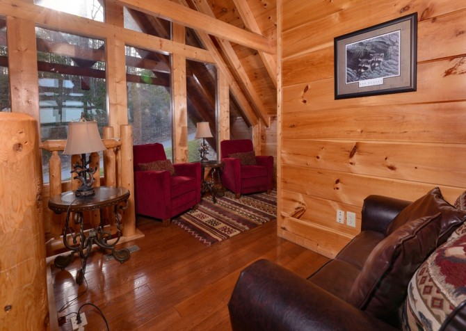 Pigeon Forge Cabin- Once Upon A View –  Sitting Area