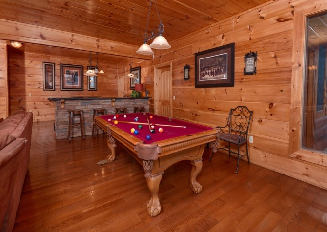 Pigeon Forge Cabin- Once Upon A View – Pool Table