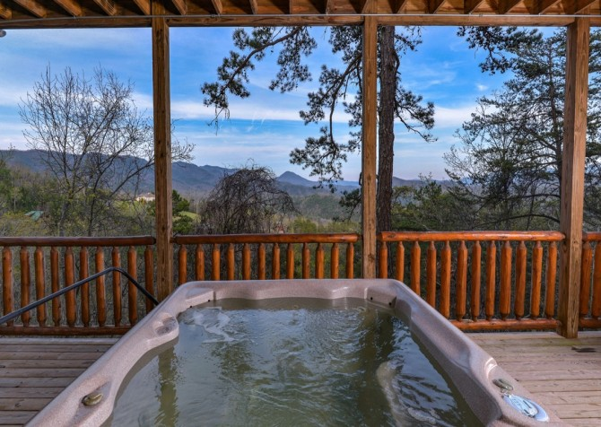 Pigeon Forge Cabin- Once Upon A View – Outdoor Hot Tub