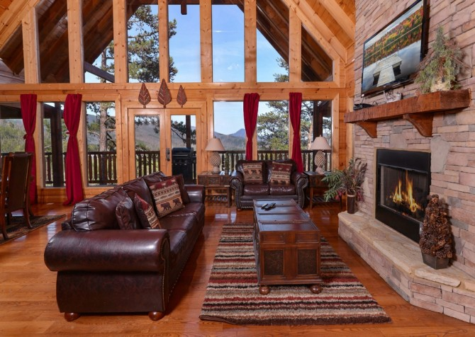 Pigeon Forge Cabin- Once Upon A View – Living Room