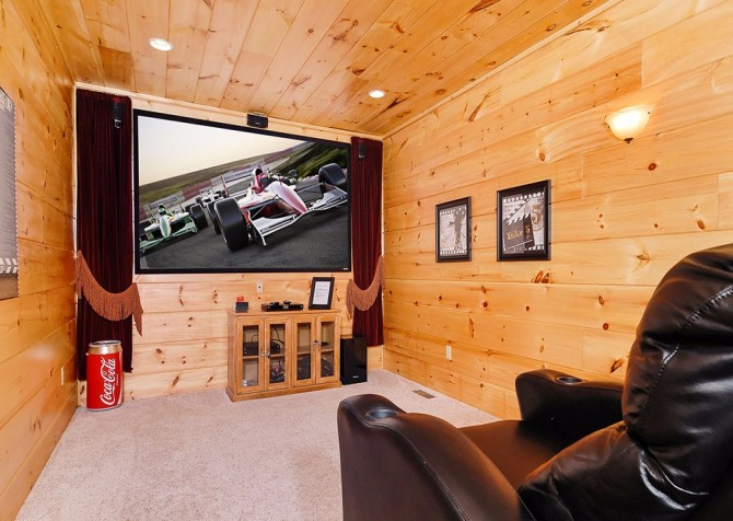 Pigeon Forge Cabin- Once Upon A View – Theater Room