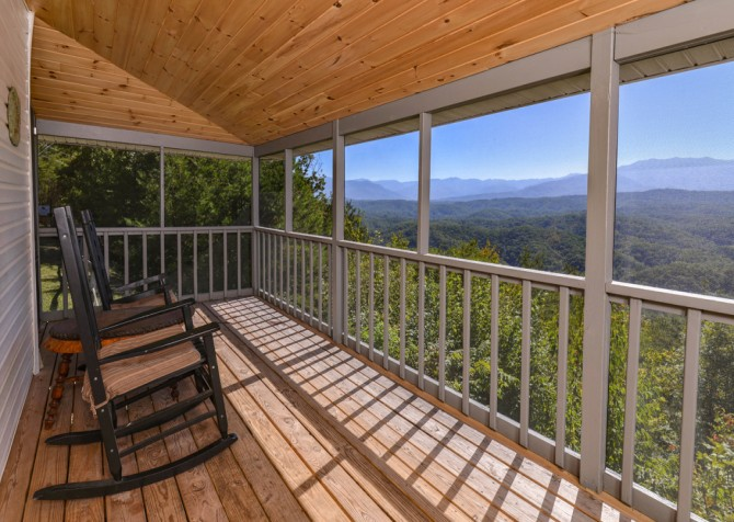 Pigeon Forge Cabin- Over The Top –Deck Rockers