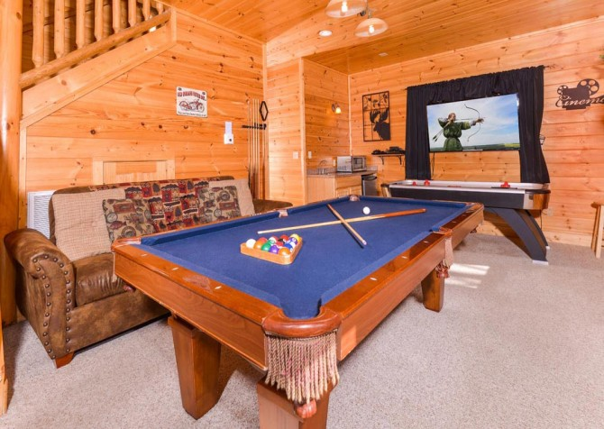 Pigeon Forge Cabin- Papa Bear Lodge – Pool Table