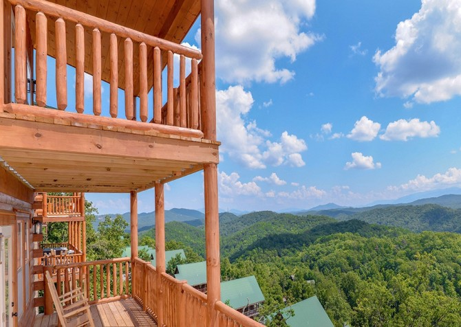Pigeon Forge Cabin- Paradise Peak – Deck View
