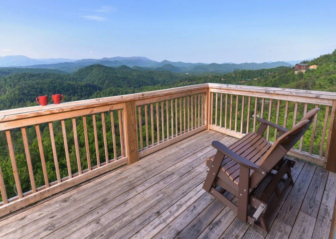 Pigeon Forge Cabin - Plimpton Lodge - Mountain View