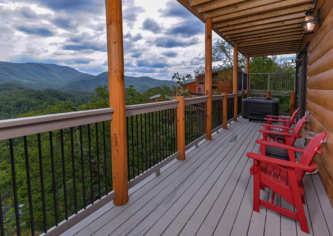 Pigeon Forge Cabin- Point of Grace – Dec View