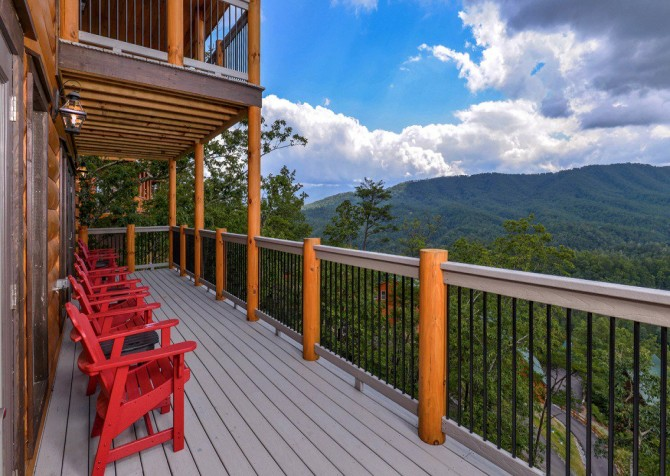 Pigeon Forge Cabin- Point of Grace – Deck View