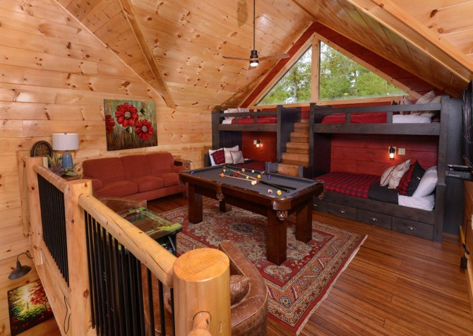 Pigeon Forge Cabin- Point of Grace – Loft Room