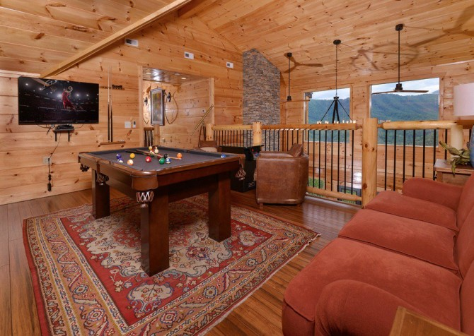 Pigeon Forge Cabin- Point of Grace – Pool Table