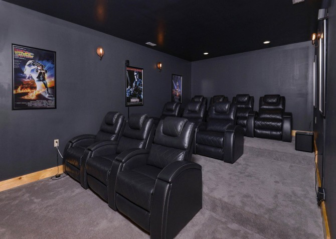 Pigeon Forge Cabin- Point of Grace – Theater Room
