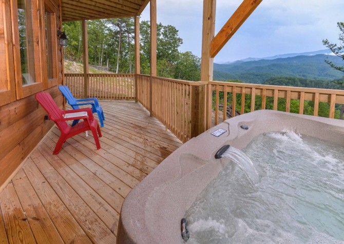 Pigeon Forge - A Point of View - Hot Tub View