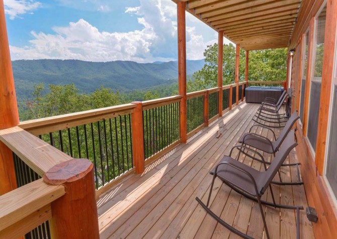 Pigeon Forge Splashin in the Smokies Covered Deck