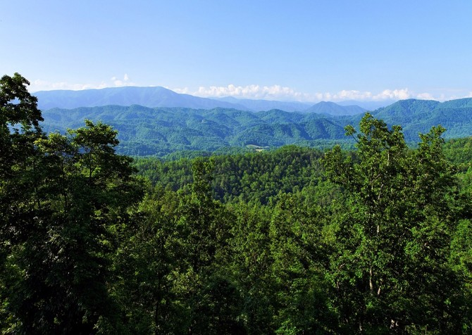 Pigeon Forge The Deck House View