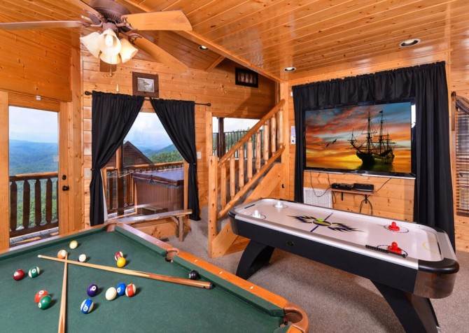 Pigeon Forge The View Recreation Room