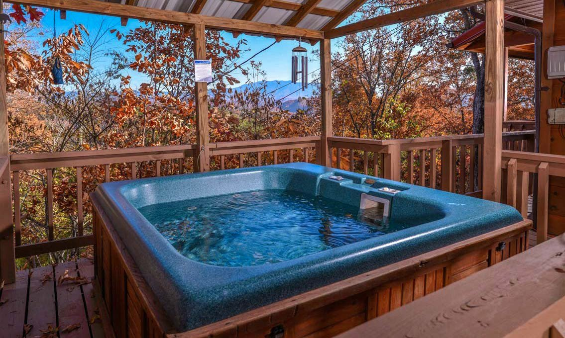 Pigeon forge cabins serenity for Pigeon forge cabins with hot tub