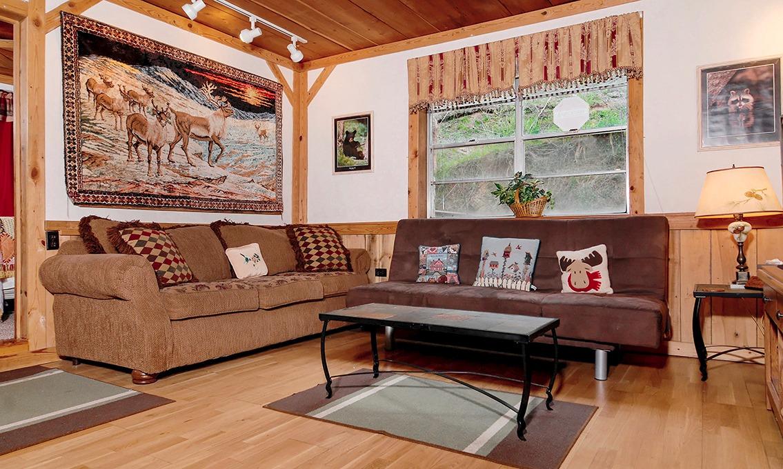 Overview; Living; Recreation; Bedrooms; Exterior. Pigeon Forge Stonecreek  Cottage Creek