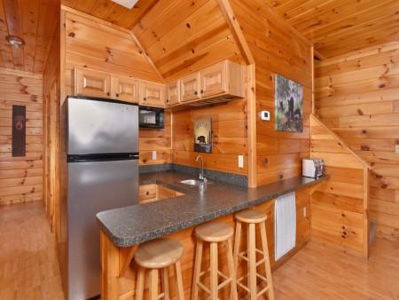 Gatlinburg Cabins - Bearfoot Landing - Kitchenette
