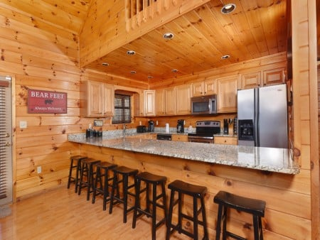 Gatlinburg Cabins - Bearfoot Landing - Breakfast Bar