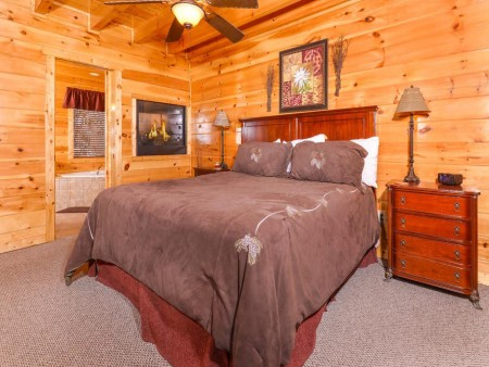Pigeon Forge Cabin- Alone At Last – Bedroom 1