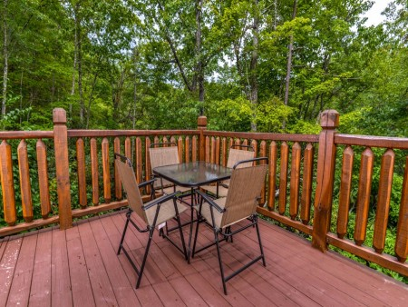 Pigeon Forge Cabin- Alone At Last – Deck Sitting Area