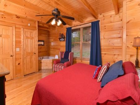 Pigeon Forge Cabin- American Bear Cabin – Bedroom 2
