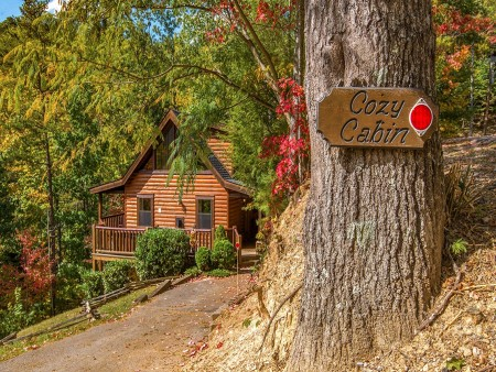 pigeon forge cabin – cozy cabin – view