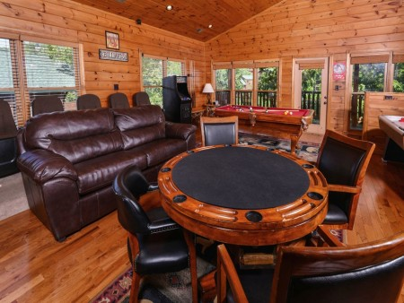 Gatlinburg - Mountain Getaway and a Theater- poker table