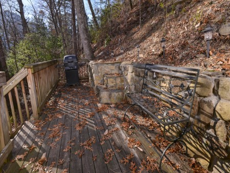 Pigeon Forge - Hillside Hideaway - Exterior Bench and Grill