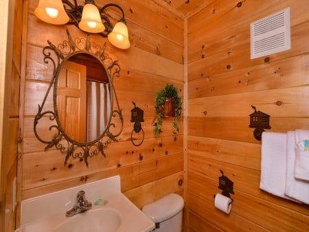 Pigeon Forge Cabin- It's A Wonderful Life – Bathroom Two