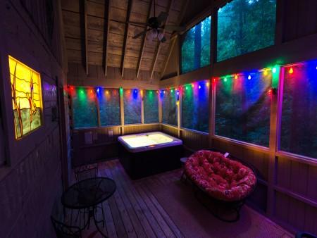 pigeon forge cabin - a secret romance - hot tub