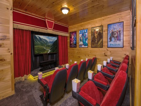 Pigeon Forge Cabin - Be Our Guest - Theater Room