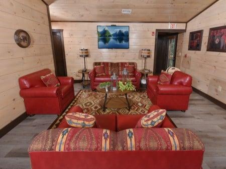 Pigeon Forge Cabin - Big Forest Lodge -  Media Room