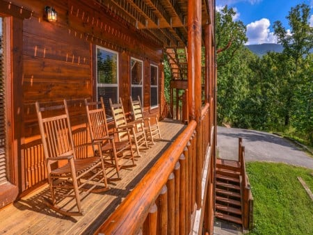 pigeon forge cabin – buckskin lodge – exterior