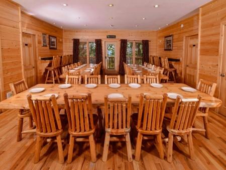 pigeon forge cabin – buckskin lodge – kitchen
