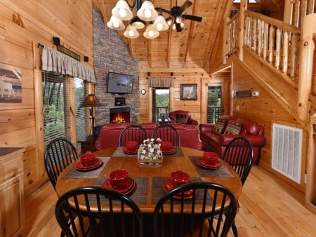 Pigeon Forge Cabin- Ever After – Living Room