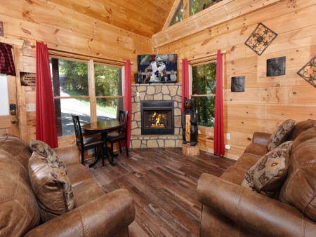 Pigeon Forge - Little Bear Lodge - Living Room